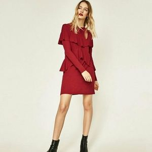 ZARA party red mini dress